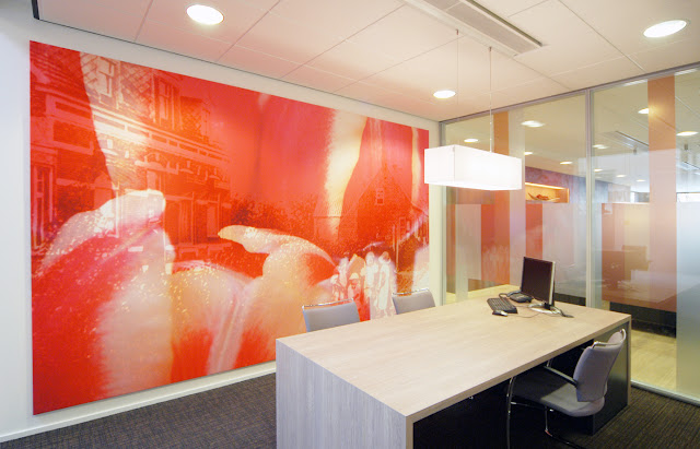 Big wall size prints for Rabobank Halsteren