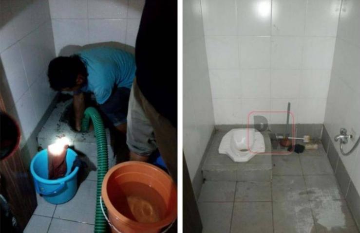 Perbaikan Saluran WC Mampet