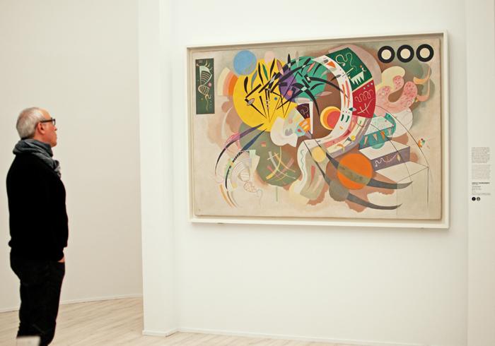 photo de l'exposition De kandinsky à Pollock qui se tient à Florence. Photo du tableau de Kandinsky