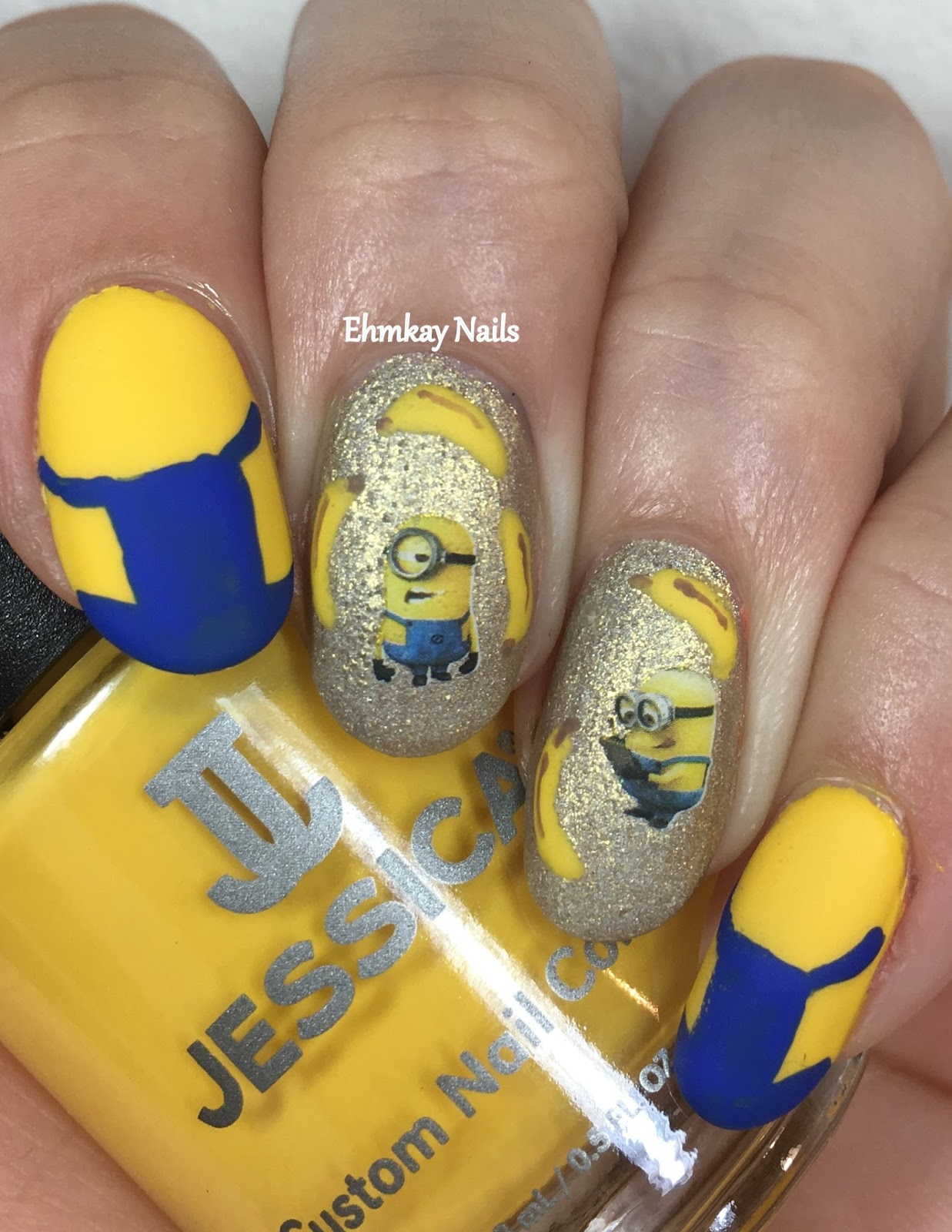 ehmkay nails: Despicable Me 3 Minion Nail Art