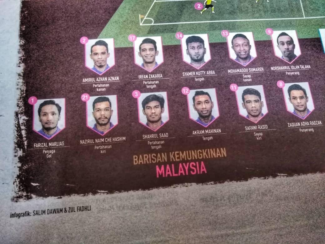 barisan pemain Malaysia final aff suzuki cup 2018