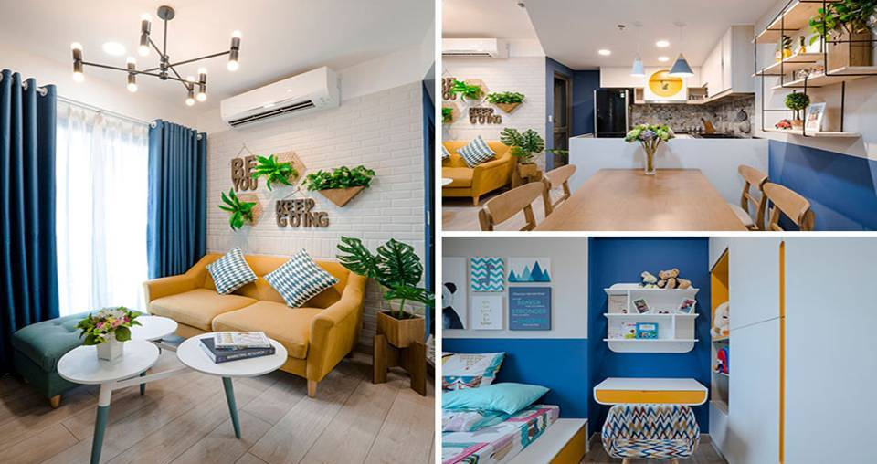 fantastic blue and yellow decorating ideas keep this small apartment