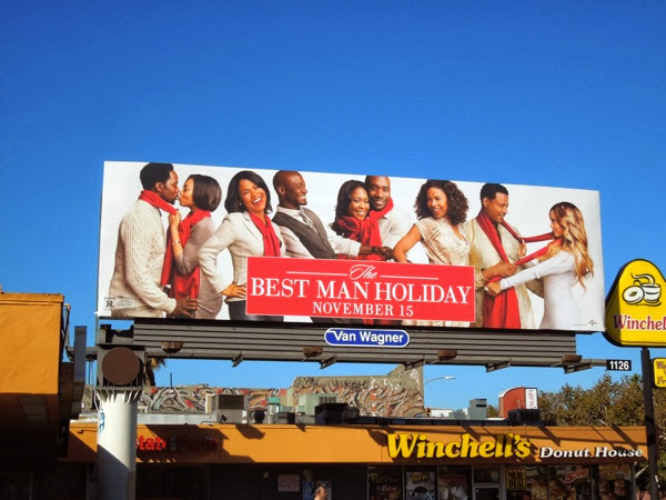 Best Man Holiday movie billboard