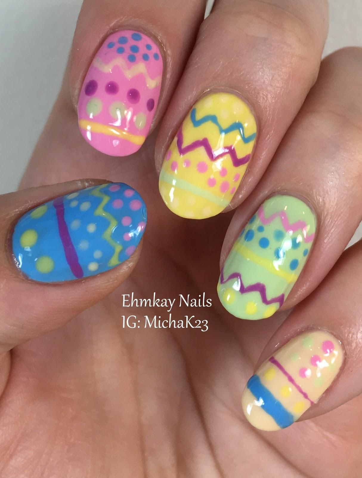 ehmkay nails: Easter Nail Art: Easter Eggs Nail Art with Paint Box ...