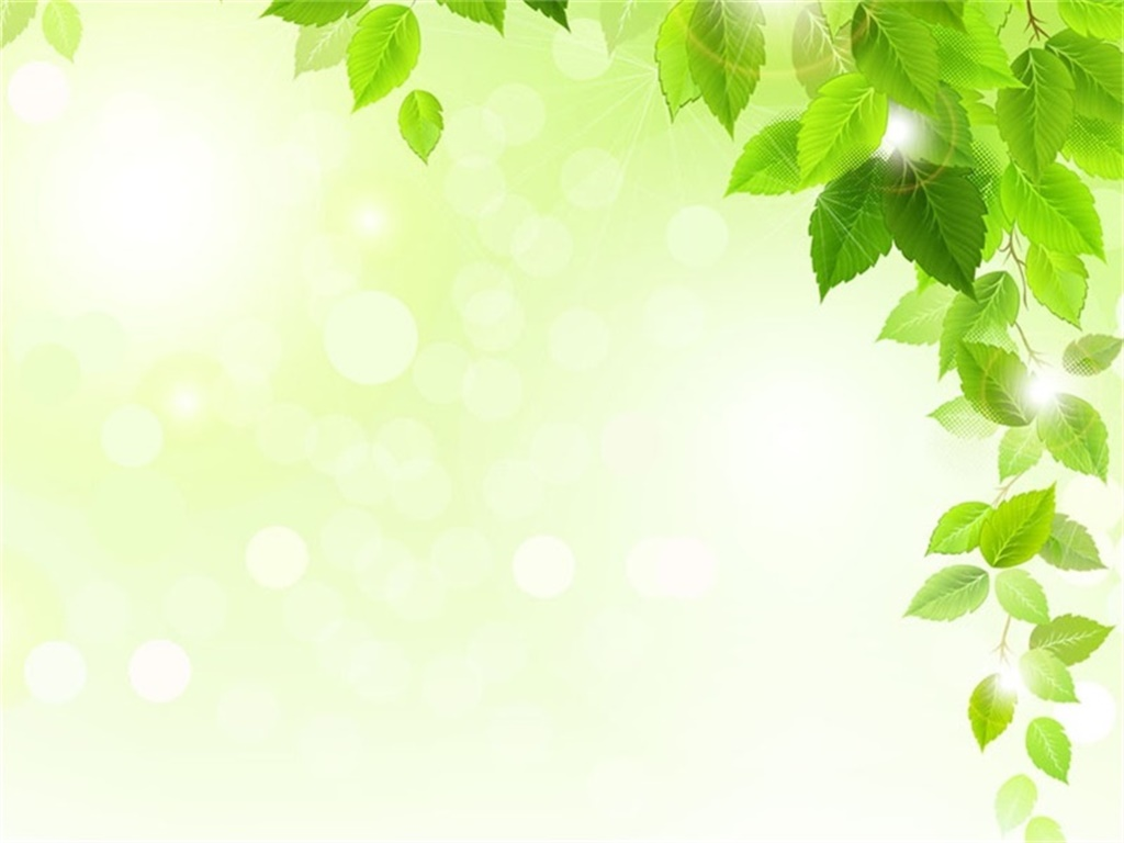 A set of green leaf PPT background images