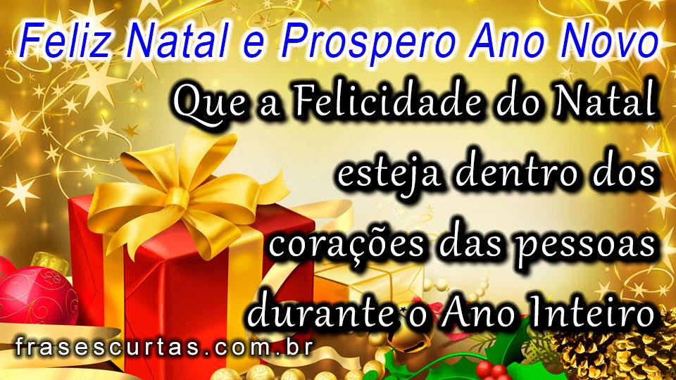 Mensagem De Natal E Prospero Ano Novo Frases Curtas