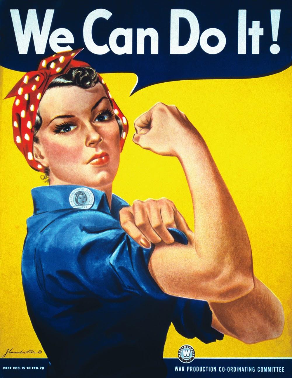 Pinzellades Al Món 8 Març 2015 Dia De La Dona Treballadora We Can Do It Cartell Versionat