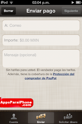 Paypal para iPhone iPad