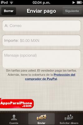 Paypal para iPhone iPad
