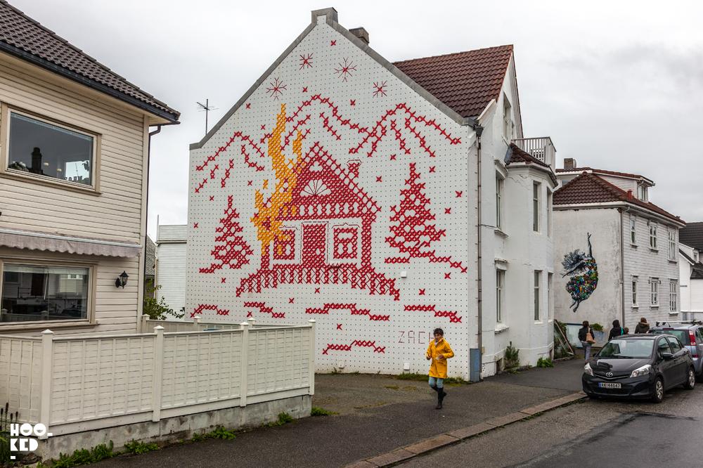 Ernest Zacharevic Mural in Stavanger, Norway
