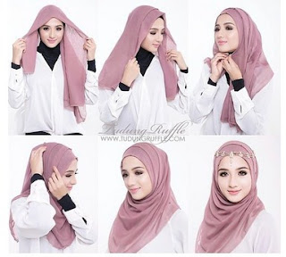 Inspirasi Cantik Berhijab dengan Tutorial Hijab Modern dan Stylish Terbaru 2016