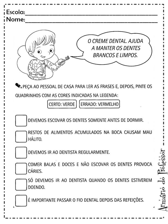 Amado Plano de aula: Higiene | Armário do Professor JR12