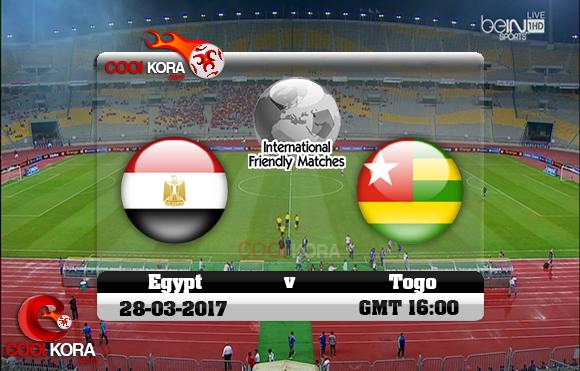 مشاهدة مباراة مصر وتوجو اليوم 28-3-2017 مباراة ودية