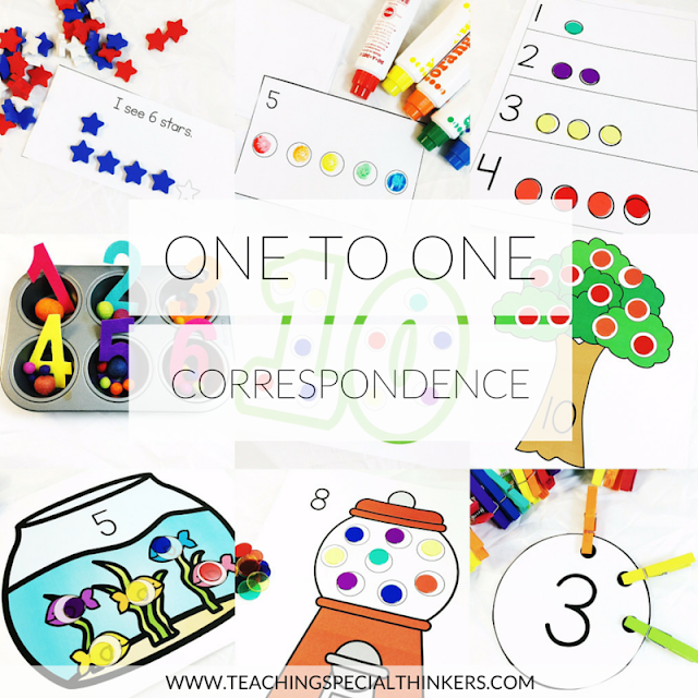 Tools For Building One To One Correspondence Teaching