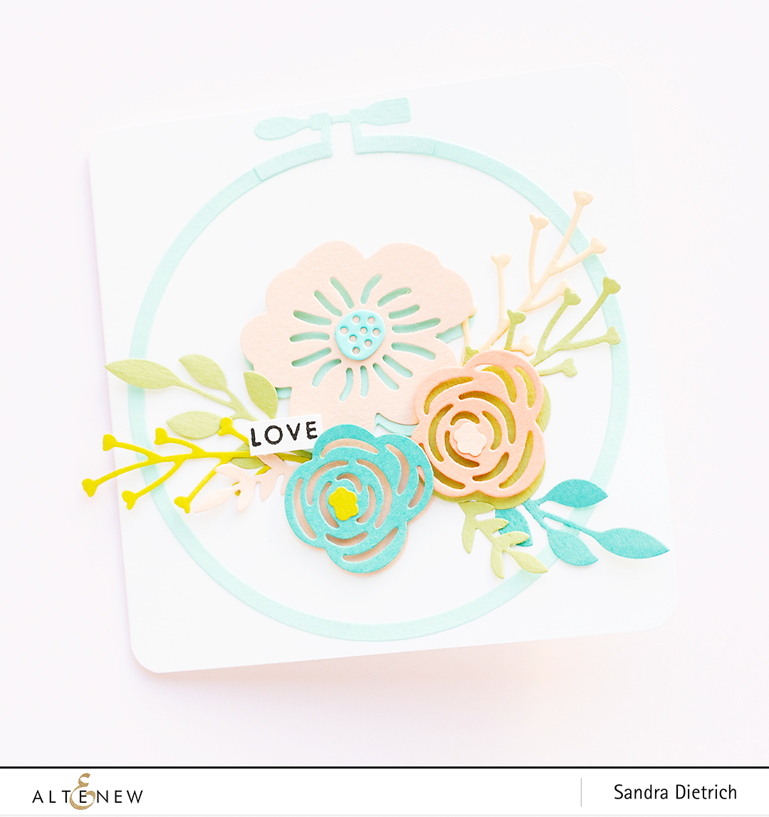 Altenew | Spring Cardmaking | Layered Floral Elements Die | Love Card