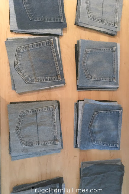 planning the denim quilt pattern