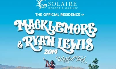 Solaire Moment: Macklemore & Ryan Lewis 2014 World Tour