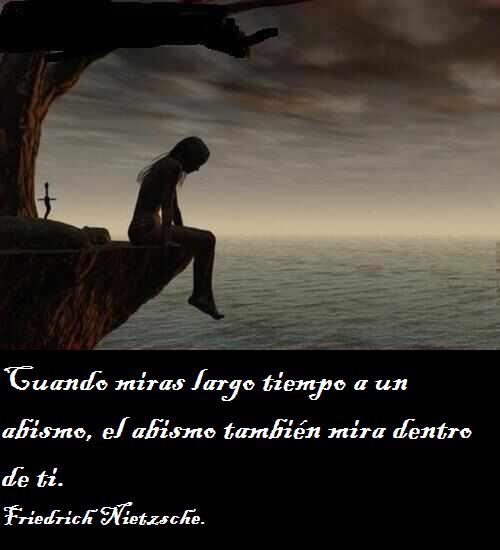 Frases De Nietzsche Cuando Miras Largo Tiempo A Un Abismo