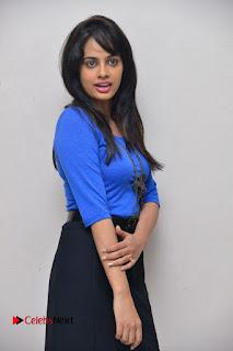 Actress Nandita Swetha Stills in Black Mini Skirt at Ekkadiki Potavu Chinnavada Movie Special Show  0019.JPG
