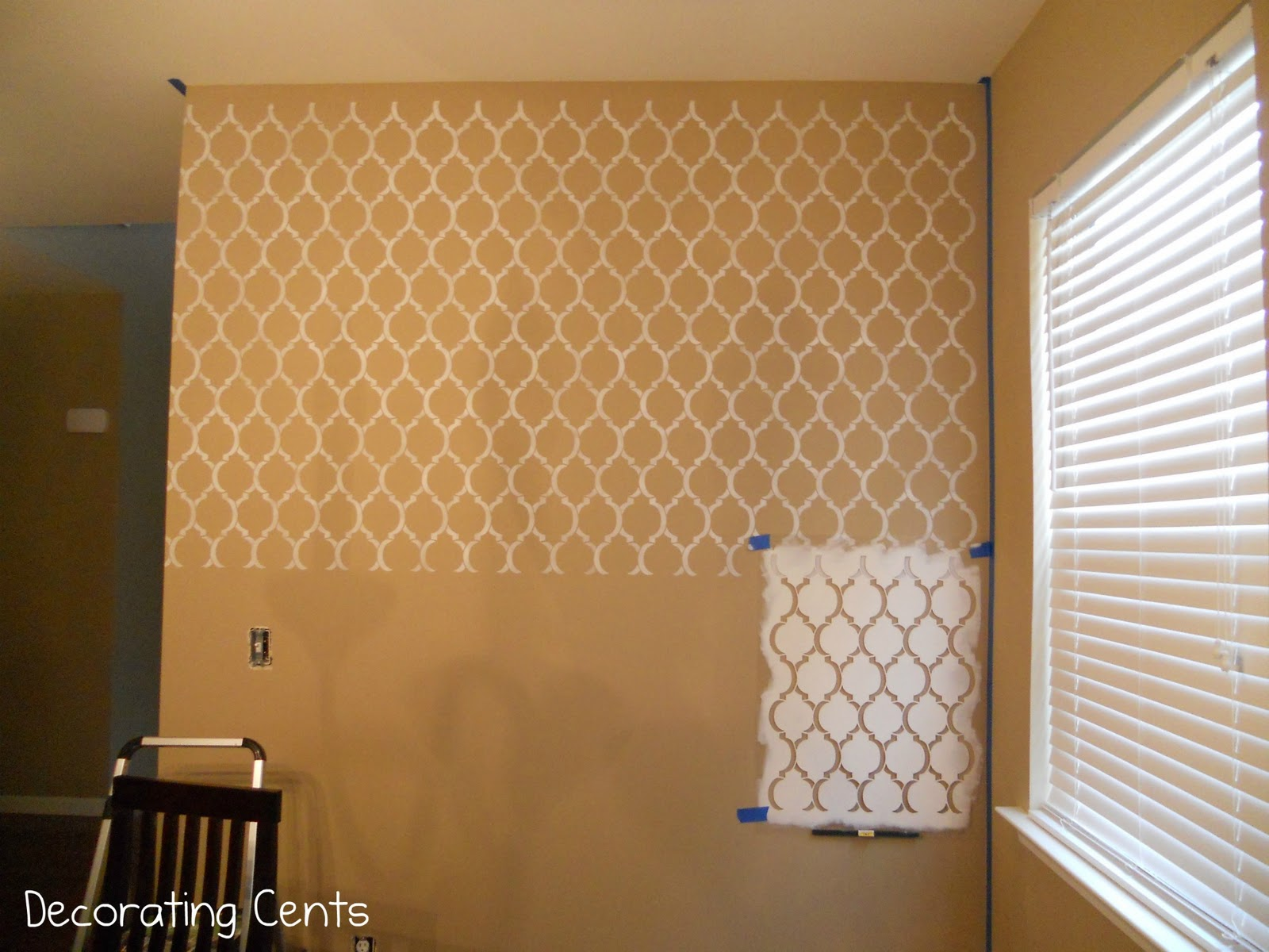 Decorating Cents: A Stenciled Wall
