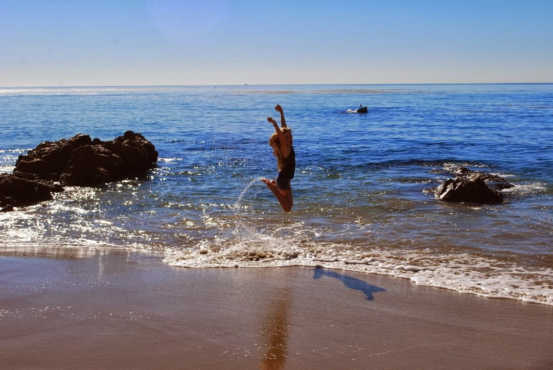 Jumping for Joy on the Beaches of Laguna
