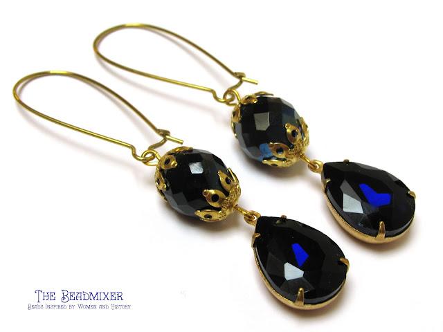 Saffier blauwe glamour oorbellen