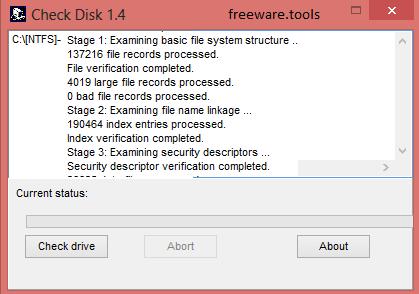Freeware Tools: CheckDisk 1 4
