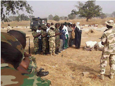 Sad picture from burial of soldier that died fighting Boko Haram