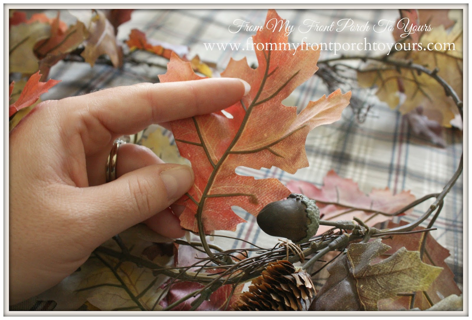No Sew Fall Leaf Pillow Tutorial From My Front Porch To Yours