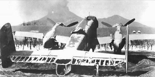 Avión dañado por las cenizas del Vesubio