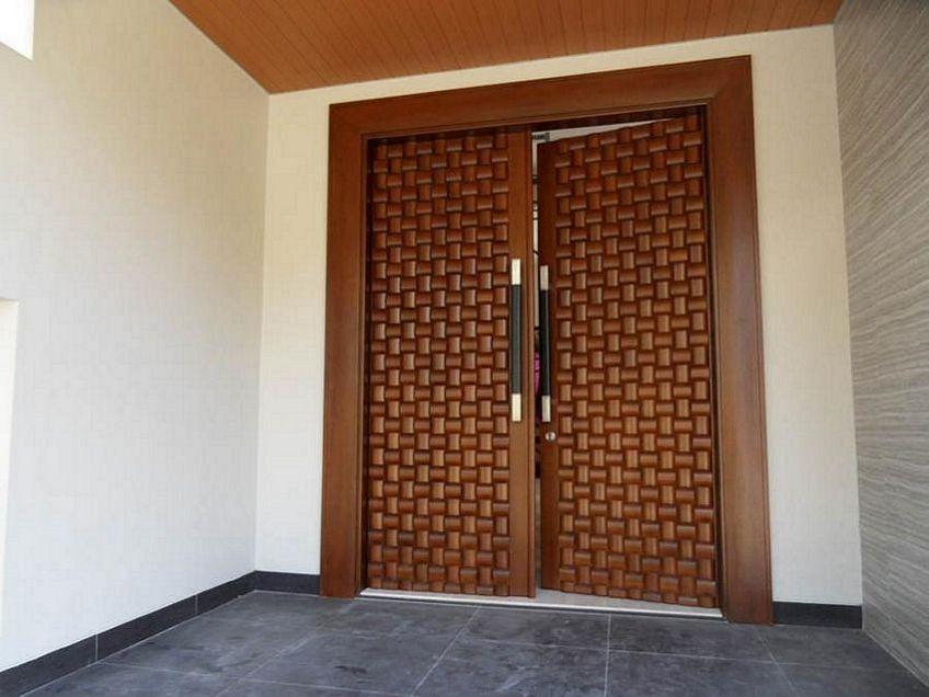 pintu depan rumah mewah 4