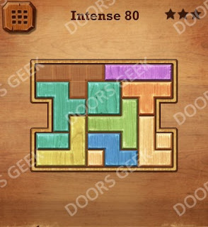 Cheats, Solutions, Walkthrough for Wood Block Puzzle Intense Level 80