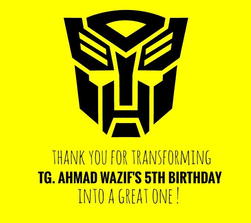 Goody Bag Birthday Untuk Kawan-Kawan Tadika Adik Wazif