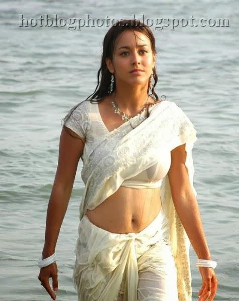 4445524d0b Polin Misha Stills in White Saree - Indian Models   Actress