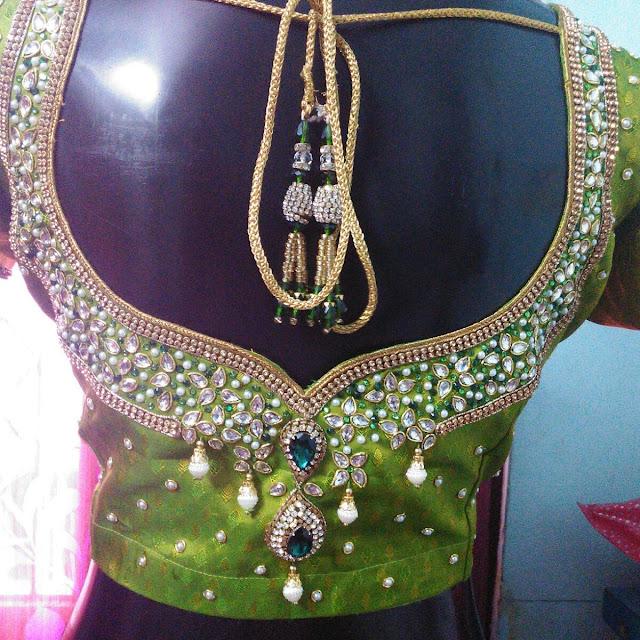 Designer Blouse by Pramila Das, Snap Style