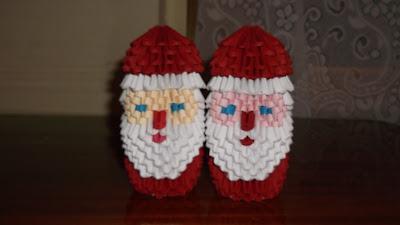 Origami 3d Santa Claus