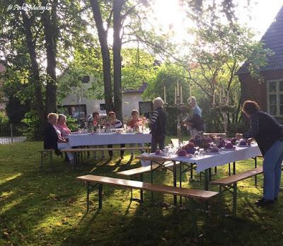 Thema bei den Landfrauen Tischdeko