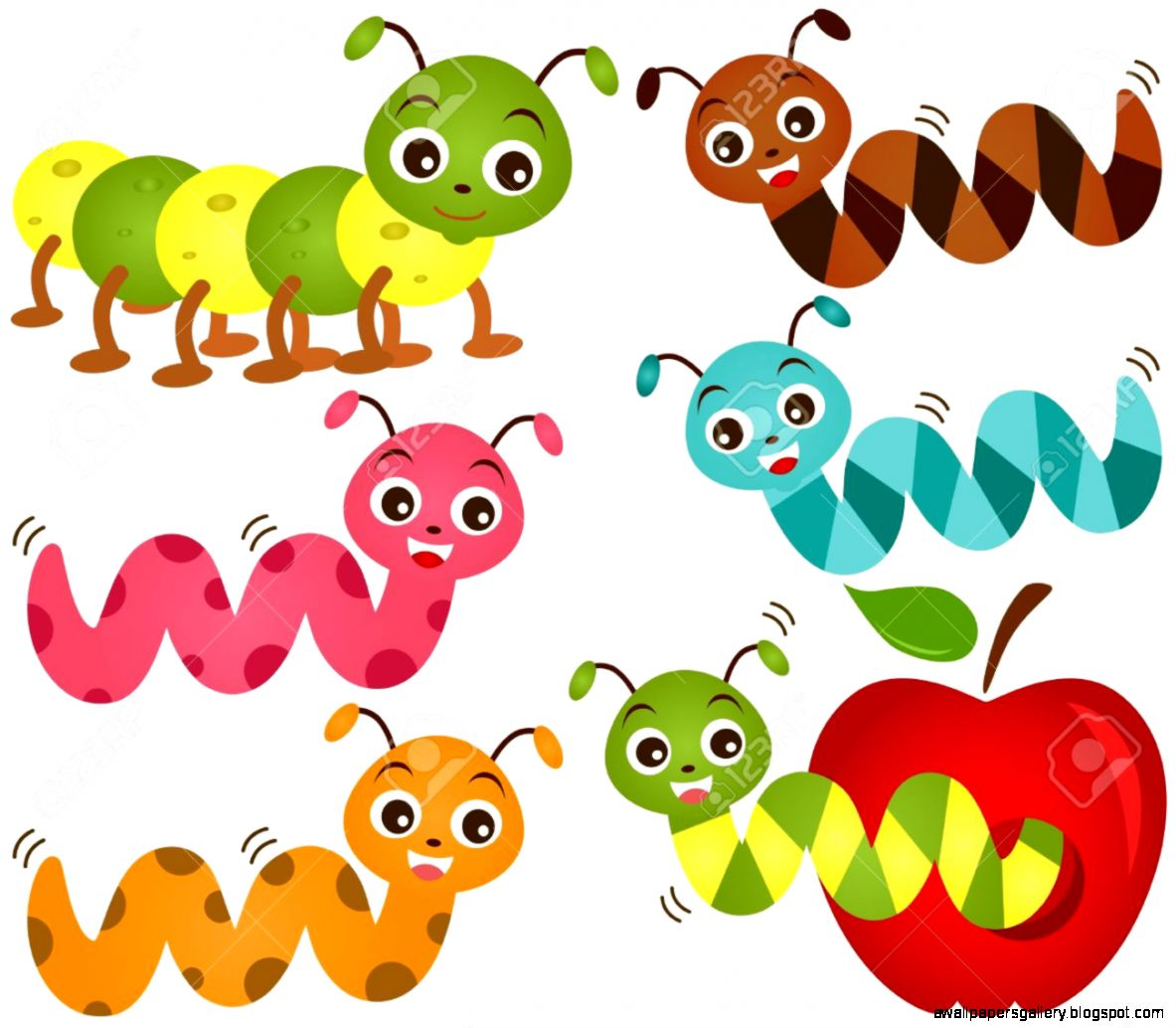 clipart apple worm - photo #38