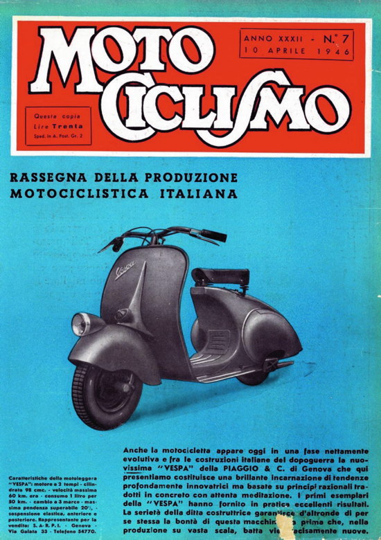 Vespa ad April 10, 1946