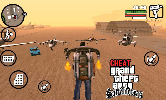 cheat gta san andreas android tamat