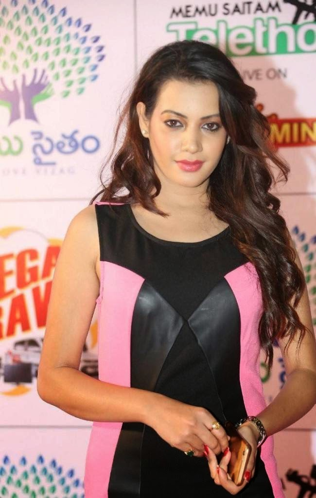 Deeksha Panth Latest Stills, Deeksha Panth Hot HD Pics in Pink Dress