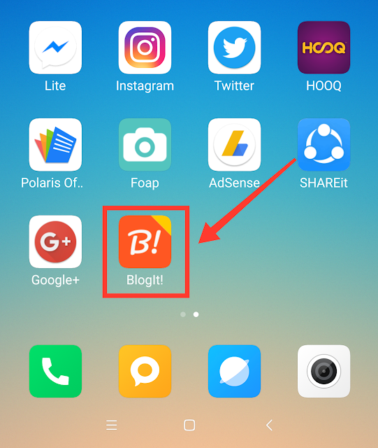 Blog It! Pilihan Nge-blog Pakai Smartphone