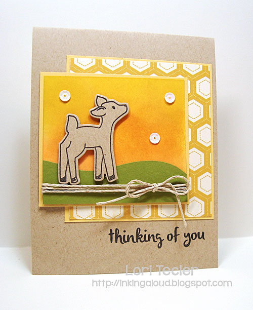 Thinking of You card-designed by Lori Tecler/Inking Aloud-stamps and dies from Avery Elle