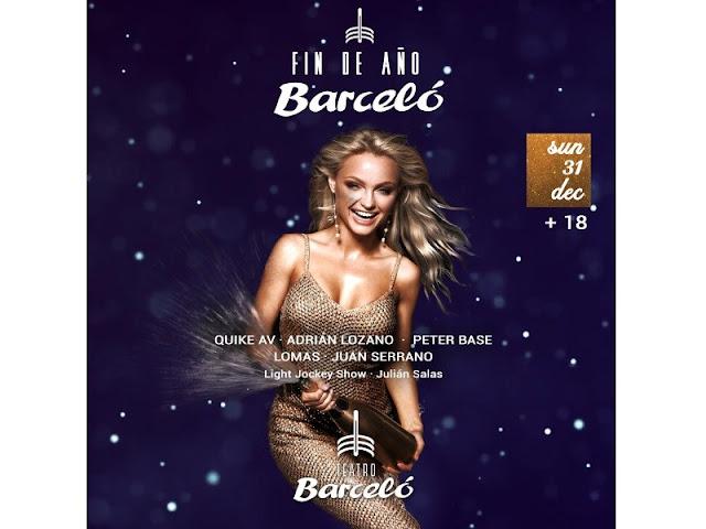 Fiesta de Nochebuena 2017 y fiesta de Nochevieja 2018 en el teatro Barcelo