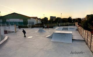 Skatepark Plessis Robinsonn éclairé