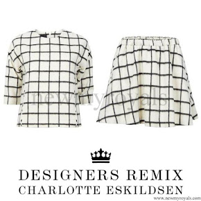 Queen Letizia wore DESIGNERS REMIX Grid Check Top