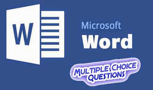Microsoft Office Word MCQ Questions With Answers Set 4
