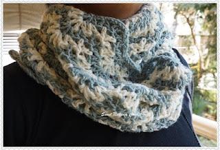 free crochet infinity chevron cowl pattern