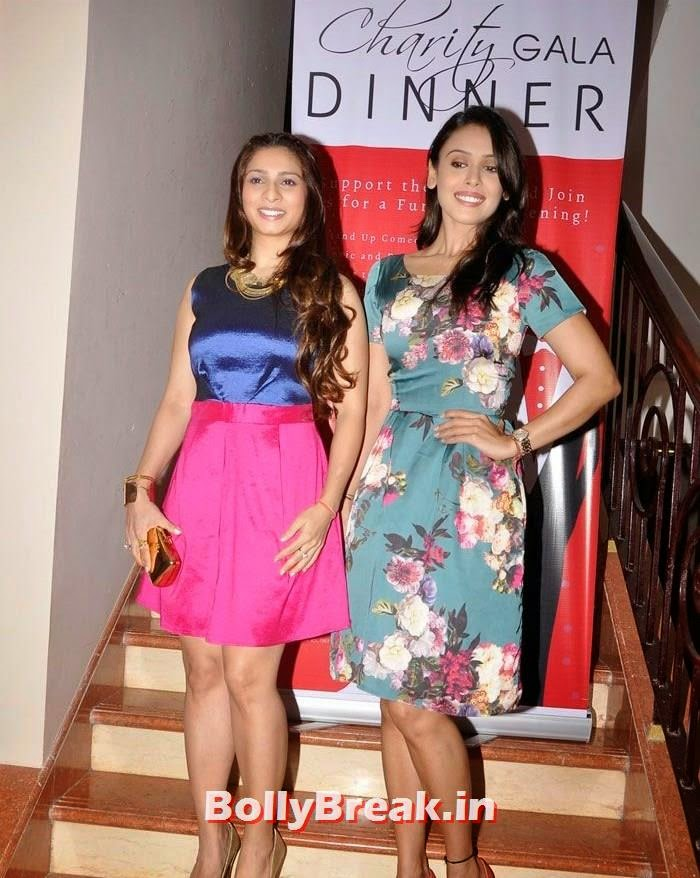 Tanisha Mukherjee, Hrishita Bhatt, Tanisha Mukherjee Pics in Hot Dress at Charity Event