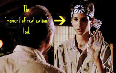 Karate Kid. Moment of realization.